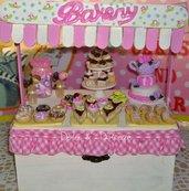 """portagioie """" sweet bakery"""" realizzato completamente a mano in ogni sua parte"""