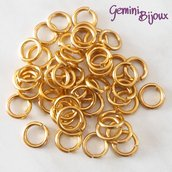 LOTTO 50 ANELLINI ALLUMINIO PER CHAIN MAILLE – 10mm – Gold