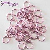 LOTTO 50 ANELLINI ALLUMINIO PER CHAIN MAILLE – 10mm – Pink