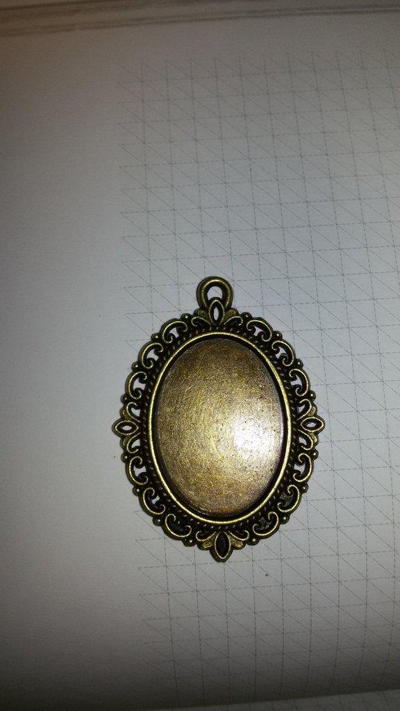 2 Cammei cabochon cornice ovale  3x2.5 cm