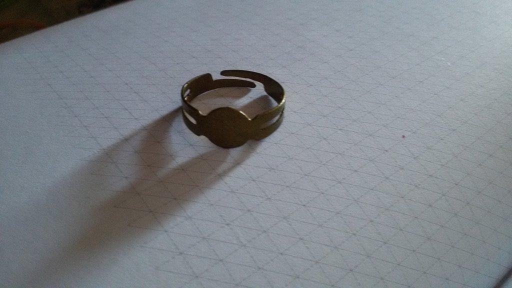 Due basi per anello oro opaco