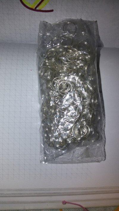 10 Cerchietti argentati doppi 0,8 mm