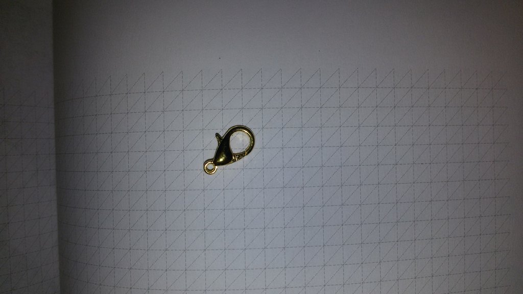 10 Moschettoni dorati 1.2 cm