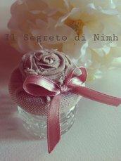 Barattolino portaconfetti Piccola Rosa