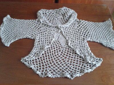 Cardigan traforato di lana