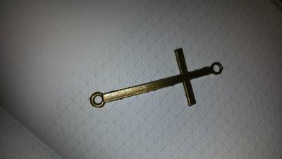 Lotto due connettori croce dorata opaca