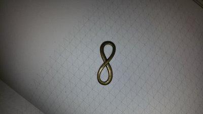 Lotto 5 connettori infinito dorati opachi
