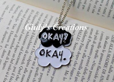 Collana con le scritte Okay? Okay. di Colpa delle Stelle THE FAULT IN OUR STARS le frasi di Hazel e Gus