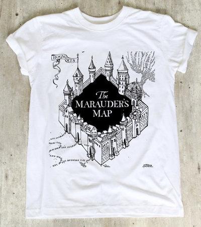 Maglietta Mappa del Malandrino di Harry potter tutte le taglie