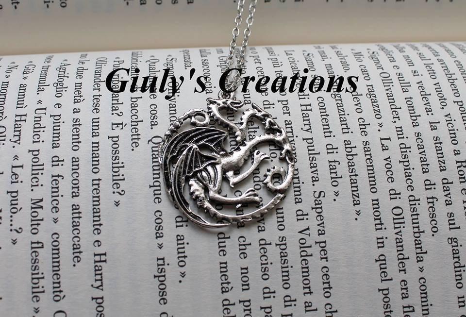 Collana con il simbolo della casa dei Targaryen Trono di Spade - Game of Thrones