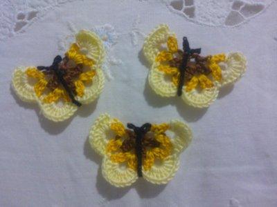 30 farfalline colori marrone-giallo-giallino (per Nicoletta)
