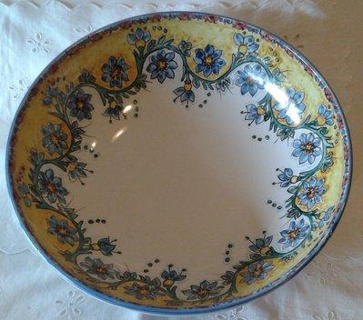 Ciotola / Spaghettiera / Insalatiera in ceramica dipinta a mano.Dec Floris
