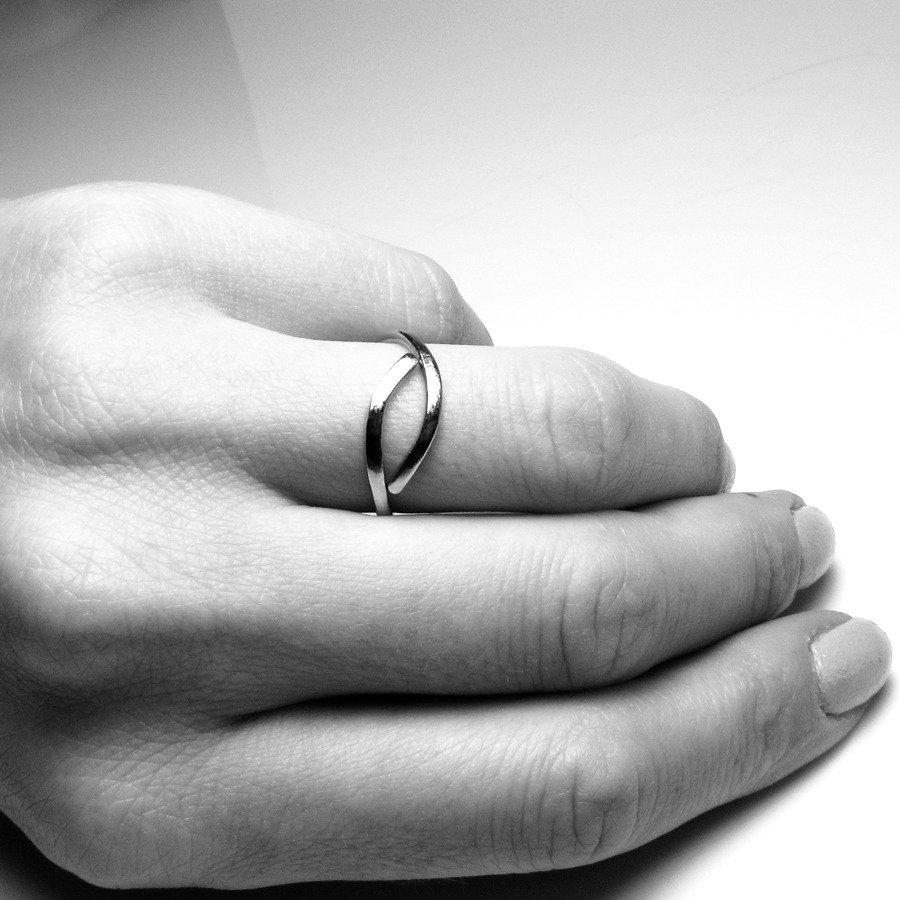 Anello in acciaio inossidabile unisex, anello unisex - Stainless Steel simple ring VIII