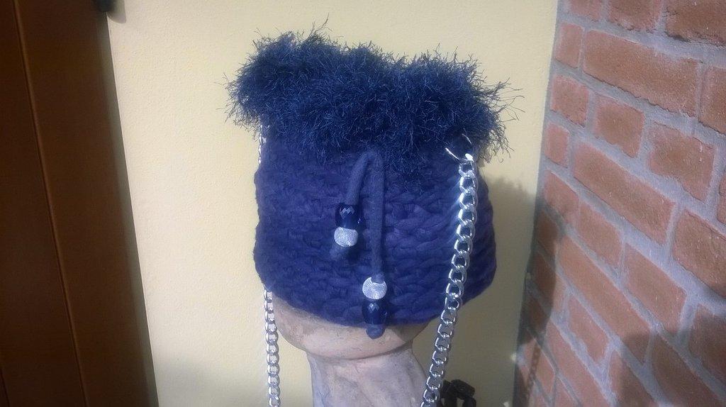 Secchiello blu royal in pile