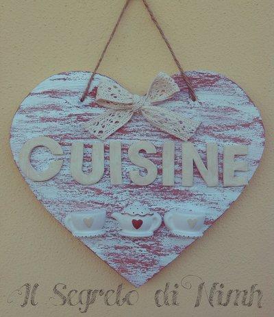 Il cuore in cucina DECORAZIONE DA PARETE