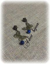 "Orecchini bronze ""Butterfly"" blu"