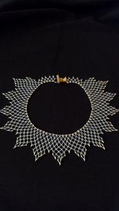 """collana colletto """"sole lucente """""""