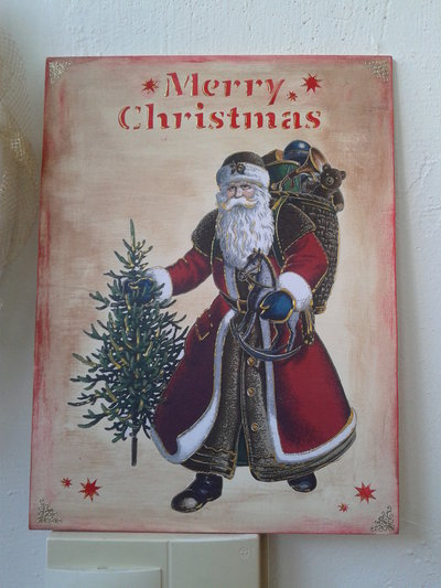 Quadro Babbo Natale Vintage