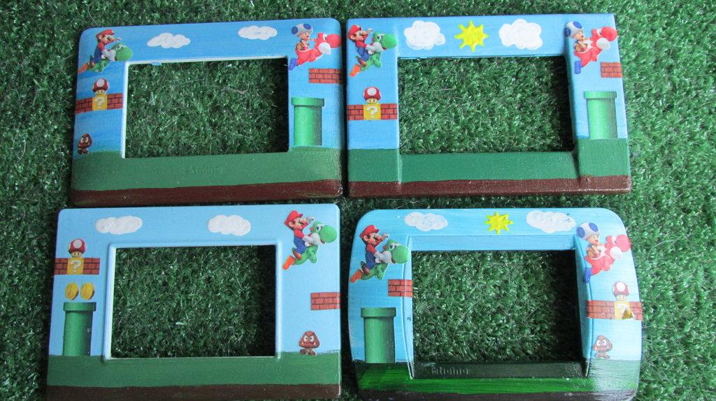 Super Mario Bros Placca personalizzata per interruttori luce