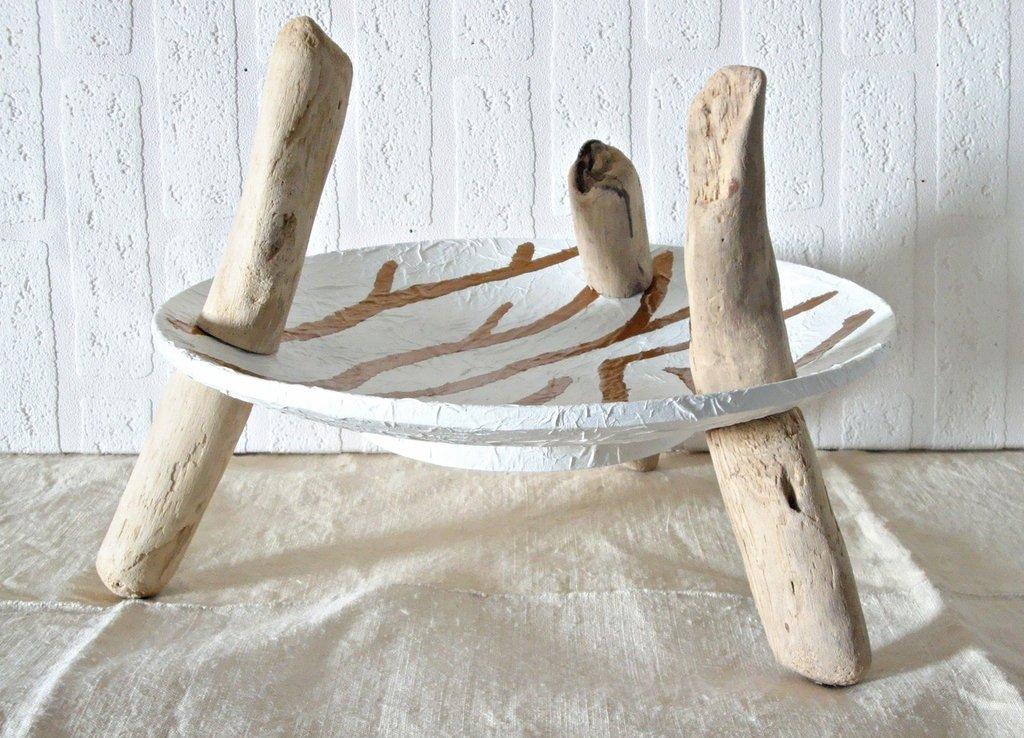 Vassoio venetia con legni di mare fatto a mano per la for Legni di mare arredamento