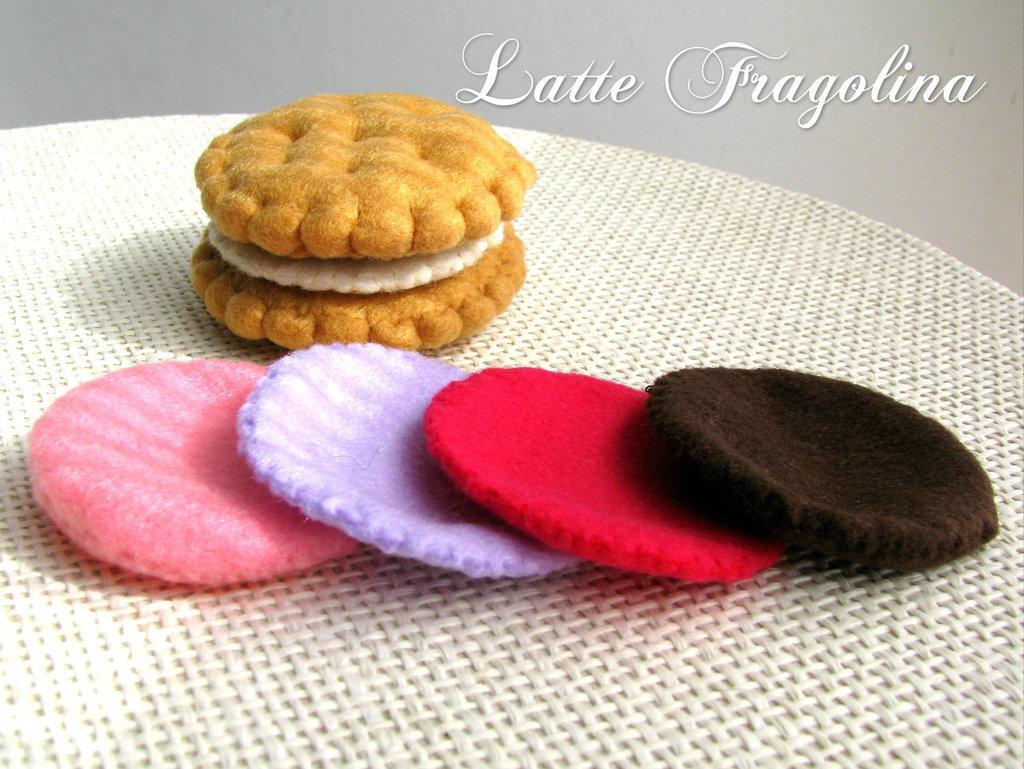 Feltro / Pannolenci Biscotto ripieno (Crema rimovibile!) - giocattolo per bambini