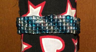 Bracciale perline azzurro