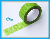 1 washi tape verde decori 5 mt
