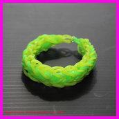 Bracciale dell'amicizia con elastici colorati a treccia