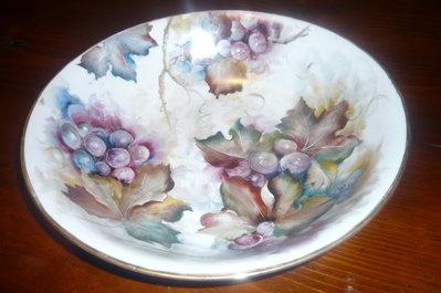 portafrutta DIPINTO A MANO in ceramica