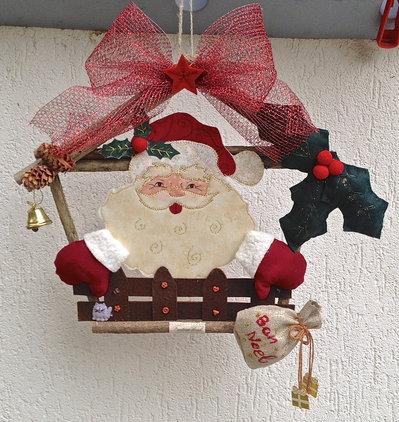 natale - ghirlanda casetta di babbo Natale