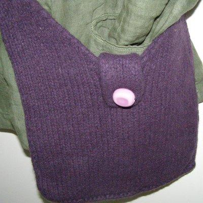 Borsa in lana infeltrita viola
