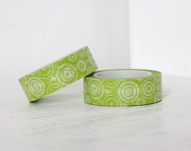 Washi Tape - Green circles