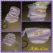 Mini borsetta porta chiavi