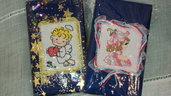 idea regalo Natale agendine rubriche tascabili con copertina ricamata a mano