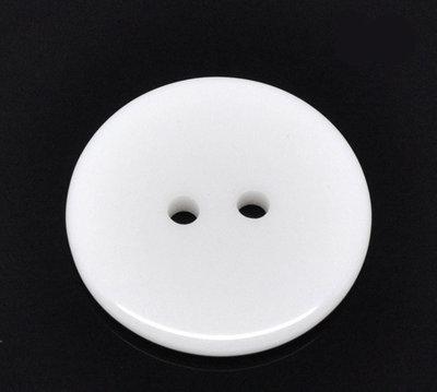 Set 6 bottoni 23 mm - Bianco