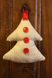 decorazione Natale alberello in tessuto