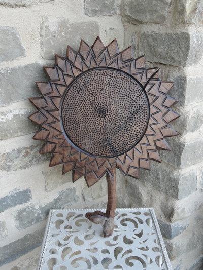 Girasole decorativo in legno