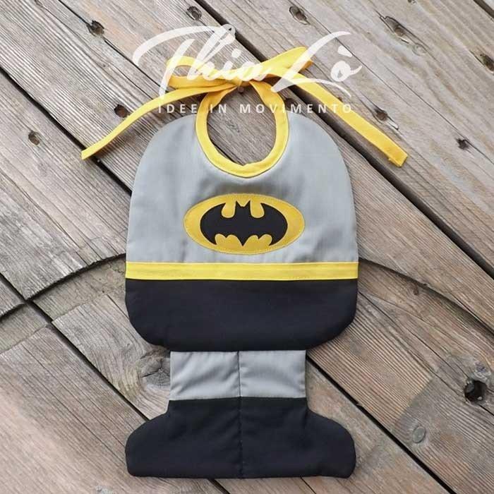 Bavaglino Batman in Cotone