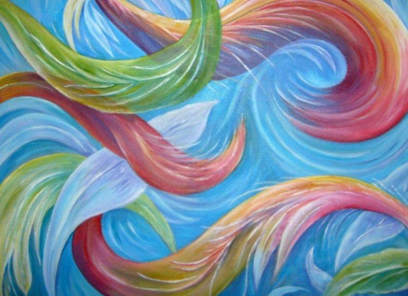 """""""Fantasia n 3"""" Dipinto su tela"""