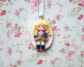 collana cammeo manga lady oscar-manga necklace