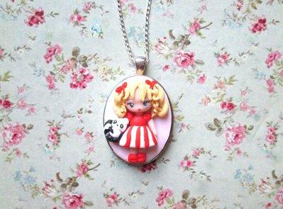 collana cammeo manga candy candy-manga necklace