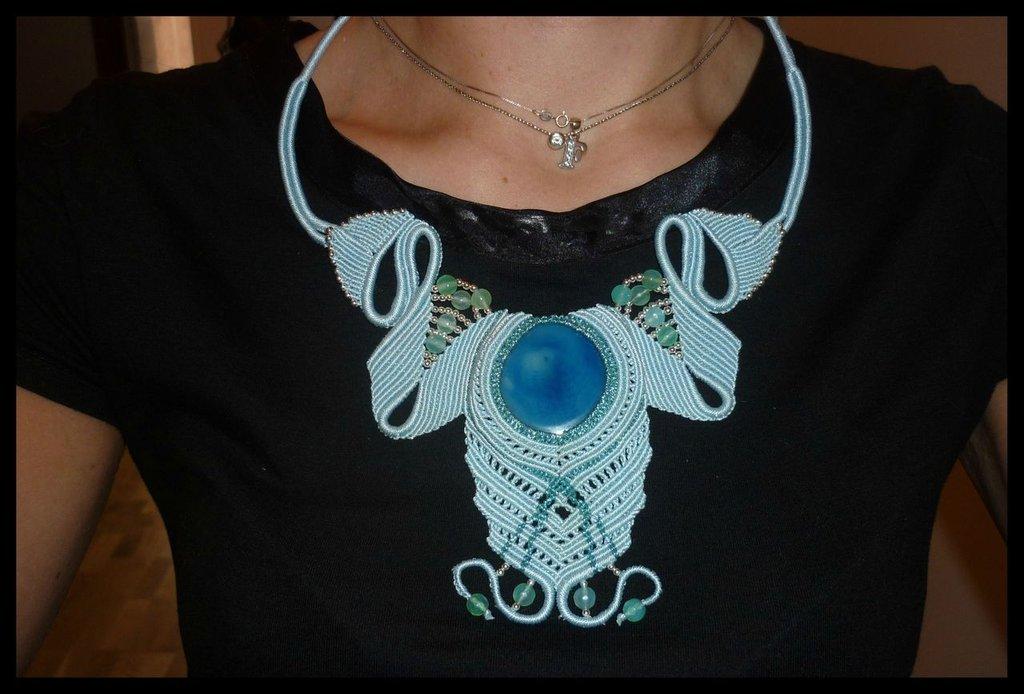 Girocollo Angel con quarzo azzurro