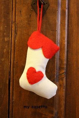 decorazione Natale calza della befana