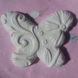 Gessetto profumato farfalla stilizzata,cm 6,5(segnaposto,aprifesta,compleanno,matrimonio,battesimo,nascita)