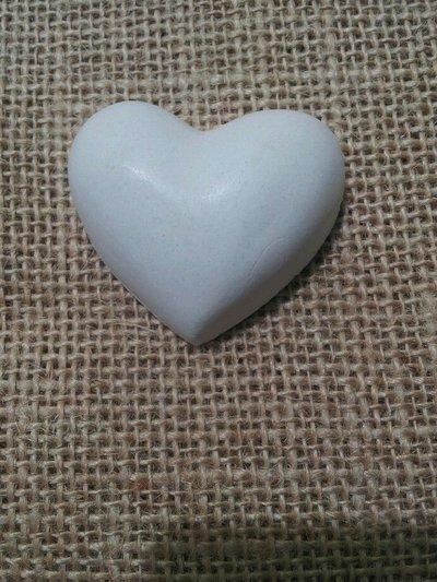 Gessetto profumato cuore liscio,cm 6,5-bomboniere,segnaposto,nozze,aprifesta,matrimonio