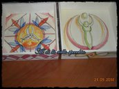 Svuotatasche decorati ad acquerelli