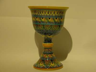 calice santo graal ceramica deruta