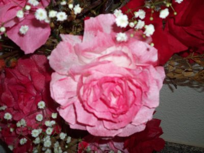 rose carta crespa