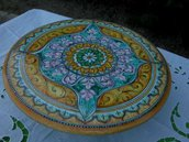 alzatina indian style ceramica deruta