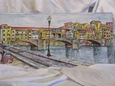 firenze ponte vecchio ceramica deruta